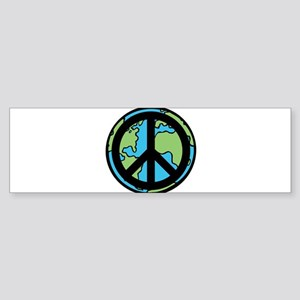 Peace on Earth in Black Bumper Sticker